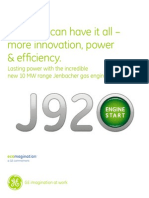 J920 Jenbacher Factsheet English