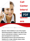 Call Center Interviewquestion