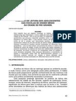 BIBLOS-23(2)2009-Praticas de Leitura Dos Adolescentes Das Escolas de Ensino Medio Da Cidade Do Rio Grande