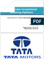 Merger & Acquistion opportunities for TATA MOTORS
