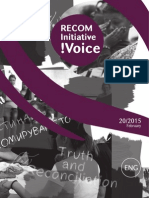 RECOM Initiative Voice-No.20-2015