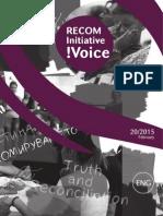RECOM Initiative Voice-No.20-2015