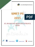 St. jhon's medical entrance test  2015(ssjmet)