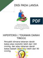 Hipertensi Pada Lansia Ppt