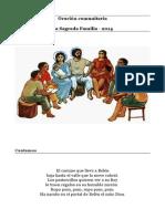 Oracio Comunitaria Sagrada Familia 2014