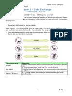 9  data exchange worksheet