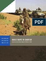 HRW Report on mass rape in Darfur