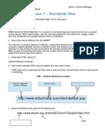 7  worldwide web (www) worksheet