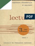 Lecture 3eme Annee Tome 1 - Algérie