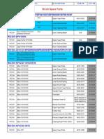 Ricoh Aficio Parts List
