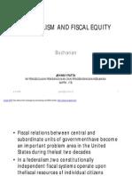 Buchanan Fiscal Federalism