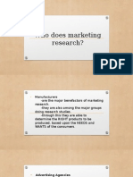 Who Does Marketing Research?