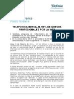 Telefónica Selecciona 34 Profesionales Jóvenes Por La Web
