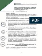 Reglamento Especial de Supervisión Directa Para La Terminación de Actividades Bajo Competencia Del OEFA
