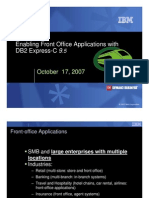 Enabling Front Office Applications with DB2 Express-C 9.5