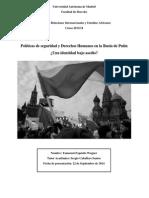 Políticas de Seguridad y Derechos Humanos en La Rusia de Putin ¿Una identidad bajo asedio?