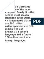 10 English is a Germanic Language of the Indo