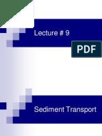 Sediment Transport Lec 9-11
