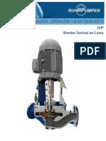 Manual instalación, mantenimiento y uso bomba vertical en linea