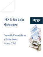 IFRS 13 Fair Value Measurement - Winston Robinson