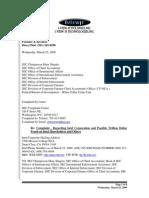 March 25, 2009 Iviewit Intel Corporation SEC Complaint Regarding Trillion Dollar Fraud on Intel Shareholders