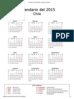Calendario de Chile Del 2015