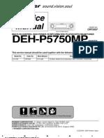 Pioneer Deh-p5750mp Service Manual