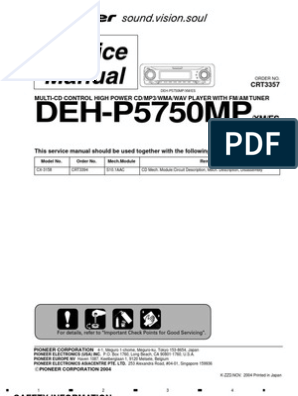 wiring diagram pioneer deh 815 pioneer deh p5750mp service manual electrical connector  pioneer deh p5750mp service manual