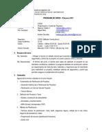 2011 2 Syllabus Planificaci n y Control de Proyectos