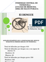 Dengue en Venezuela, Epidemiologia