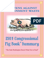 Citizens Against Government Waste Pig Book 2014