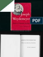 Joseph Weydemeyer Pioneer of American Socialism