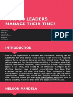 How Do Leaders Manage Their Time
