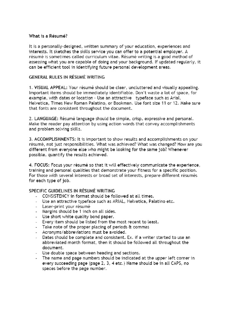 Cool Resume Font Size 11 Or 12 Pictures Inspiration - Professional ...
