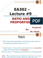 PEA302_Lec#9_Ratio & Proportion.pps