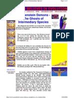 Frankenstein Demons - The Ghosts of Intermediary Species