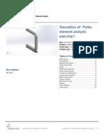 Finite Element Analysis Exercise1-Static 1-1