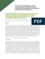 Pengembangan Model Pembelajaran Generatif Dengan Metode Pq4r Dalam Upaya Meningkatkan Kualitas Pembelajaran Matematika Siswa Kelas II B SLTP Laboratorium Ikip Ngeri Singaraja