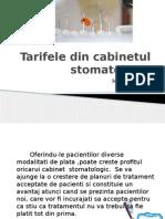 Tarifele din cabinetul stomatologic