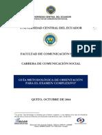 GUÍA METODOLÓGICA DE ORIENTACIÓN PARA EL EXAMEN COMPLEXIVO