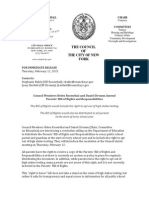 Council Members Helen Rosenthal and Daniel Dromm Call on DOE to Amend Parents' Bill of Rights (February 12, 2015)