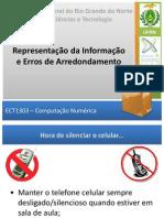 ECT1303 2015.1 Aula2,3 Representacao Erros