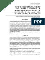 Aplicación de Un Tratamiento Químico Para El Control de Parafinas en La Tubería de Producción en El Crudo