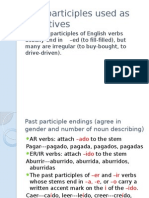past participles used as adjectives spii