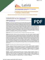 La Enseñanza de Las Teorias de La Comunicacion en AL y E Lozano y Vicente Libre