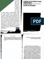 Althusser Curso de Filosofía  Para Científicos