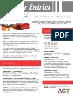 Call for Entries 2015_Registration Deadline Feb 20