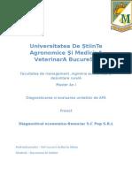 Proiect Diagnosticarea Si Evaluarea Unitatilor APA (1)