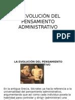 La Evolución Del Pensamiento Administrativo