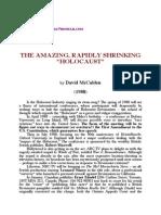 David McCalden - The Amazing, Rapidly Shrinking Holocaust